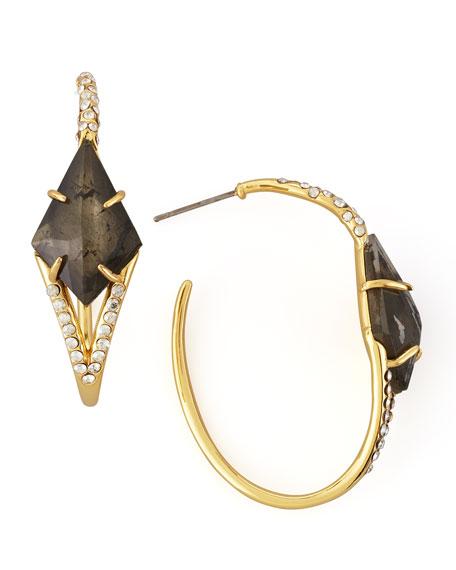 Miss Havisham Pyrite Doublet Hoop Earrings