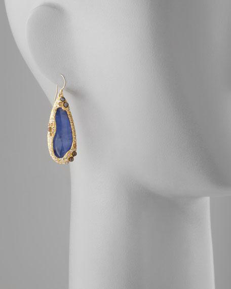 Elements Sodalite Doublet Drop Earrings