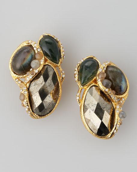 Elements Vine Cluster Clip-On Earrings
