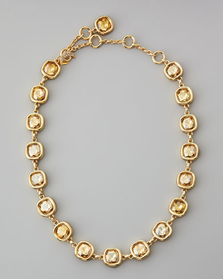 """Cushion Crystal Necklace, 20""""L"""