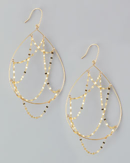 Lana 14k Gold Oval Web Earrings