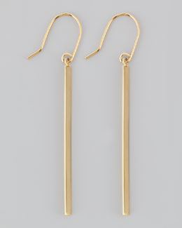 Lana 14k Gold Bar Earrings