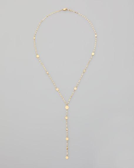 """Gypsy 14k Gold Y-Drop Necklace, 18""""L"""