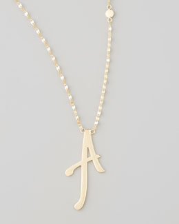 Lana 14k Gold Letter Necklace, A