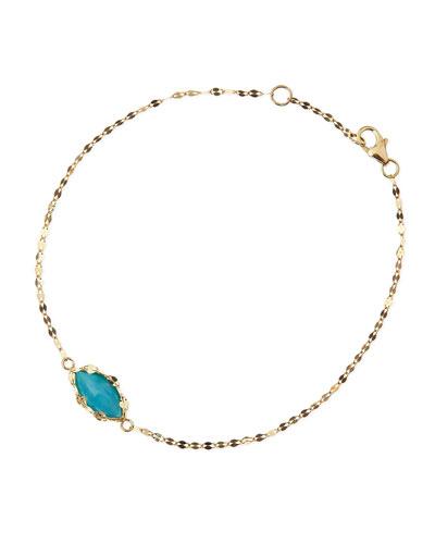 LANA 14k Gold Turquoise Bracelet
