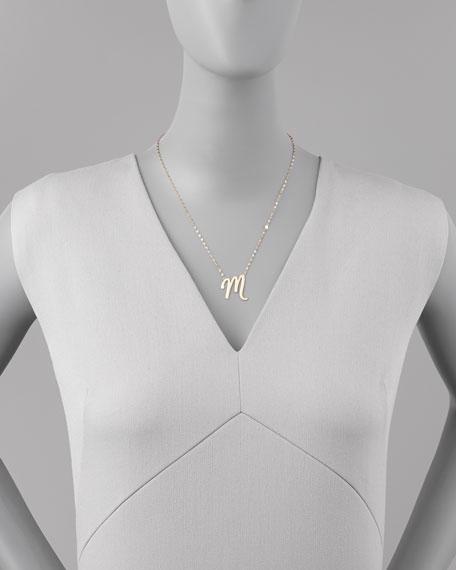 14k Gold Letter Necklace, M