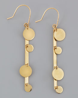 Lana 14k Gold Boho Bar Earrings