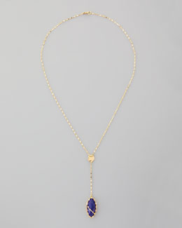 Lana Abra Lapis Drop Necklace