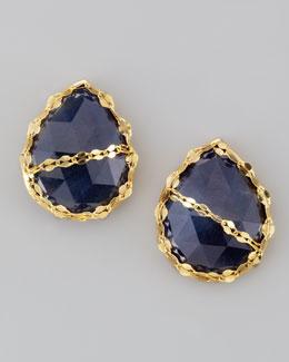 LANA Sapphire Stud Earrings