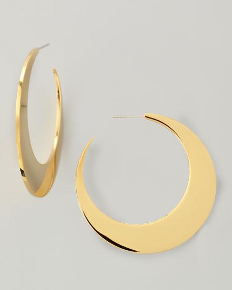 18k Gold Plate Crescent Earrings