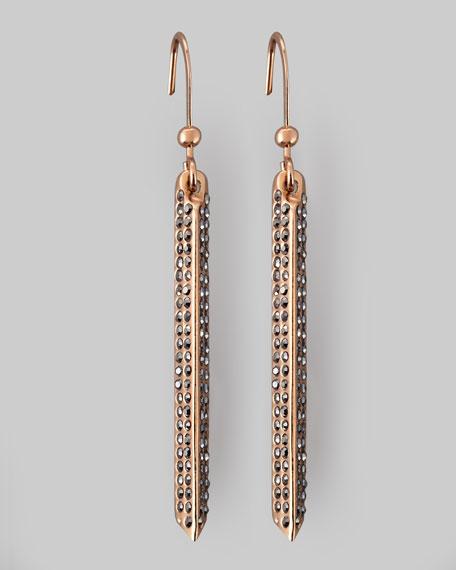 Pave Crystal Bar Drop Earrings
