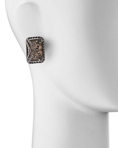 Santa Fe Deco Lucite Clip-On Earrings