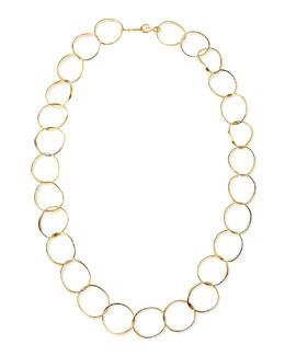 "Stephanie Kantis 24k Gold Plate Wavy Oval-Link Necklace, 42""L"