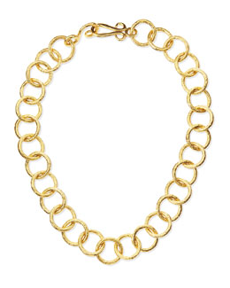 """Stephanie Kantis Classic 24k Gold-Plate Circle-Link Necklace, 18""""L"""