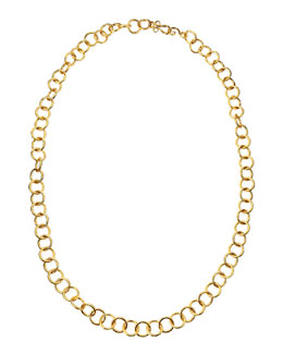 """Stephanie Kantis 24k Gold Plate Classic Circle-Link Necklace, 42""""L"""