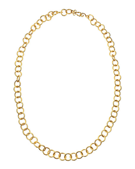 "24k Gold Plate Classic Circle-Link Necklace, 42""L"