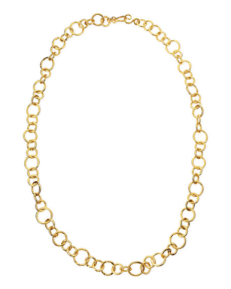 "Coronation 24k Gold Plate Large Necklace, 42""L"