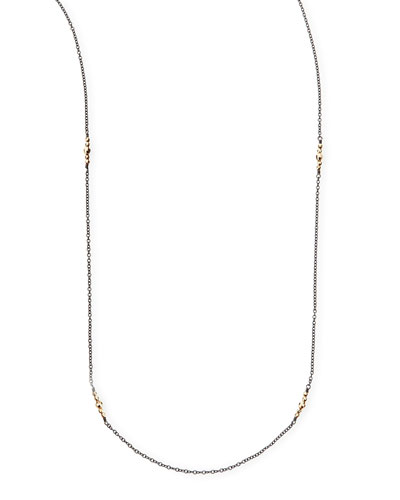 "Mizuki 14k Gold-Beaded Station Necklace, 40"""