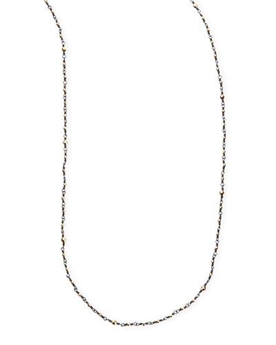 "Mizuki 14k-Bead Shadow Silver Necklace, 34"""