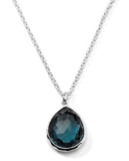 Ippolita Rock Candy Medium London Blue Topaz Pendant Necklace