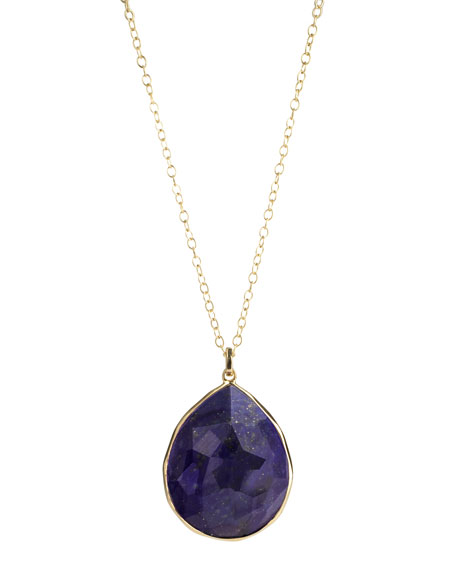 Rock Candy Gelato Large Lapis Pendant Necklace