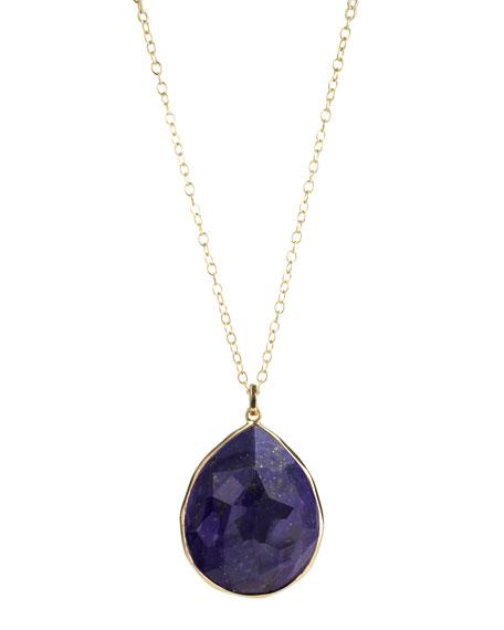 Rock Candy Gelato Large Lapis Pendant Necklace