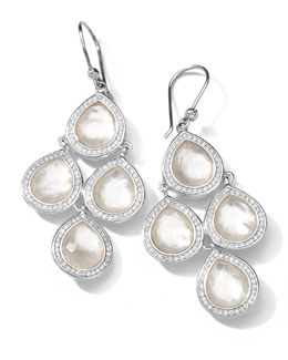 Ippolita Sterling Silver Stella Mother-of-Pearl & Diamond 4-Drop Earrings
