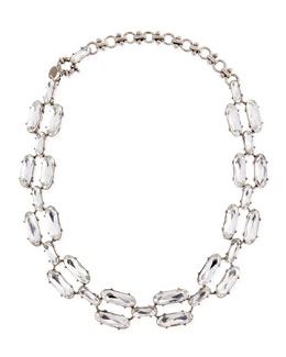 Lee Angel Clear Double-Crystal Necklace