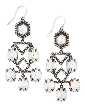 Fancy Chandelier Dangle Earrings, Clear