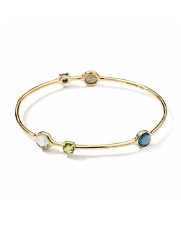 Ippolita 18k 5-Multi-Stone Station Gelato Bangle