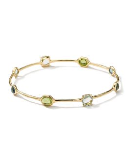 Ippolita 18k Gold Gelato 8-Stone Bangle, Tartan