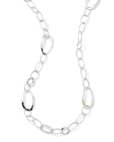Ippolita Scultura Silver Wavy Oval Link Necklace