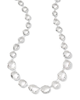 Ippolita Multi-Station Silver Clear Quartz Choker Necklace