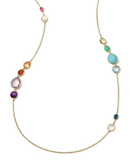 18k Long Multi-Stone Gelato Necklace
