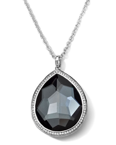 Ippolita Stella Medium Hematite Teardrop Pendant Necklace
