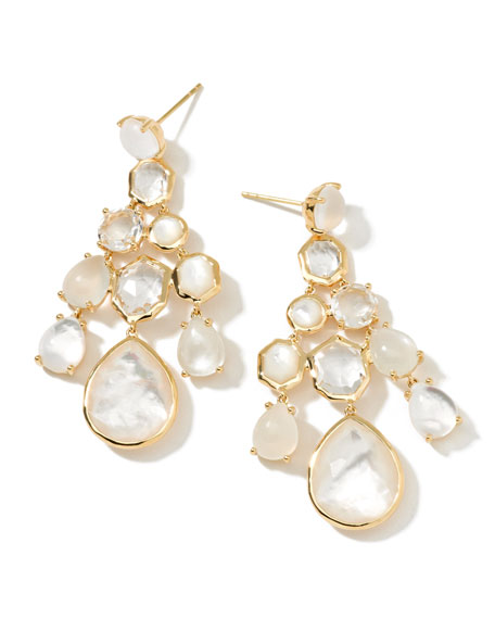18k Gelato Chandelier Earrings, White
