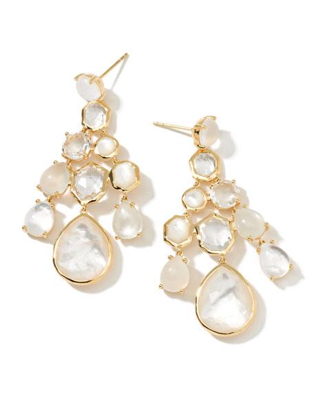 18k Gelato Chandelier Earrings, White
