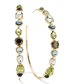 Ippolita 18k Rock Candy Gelato Multi-Stone Hoop Earrings
