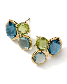 Ippolita 18k Gold Rock Candy Gelato 3-Stone Stud Earrings