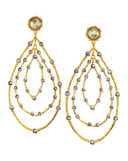 Alexis Bittar Orbit Lace Green Amethyst Earrings