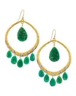 Alexis Bittar Crystal-Studded Amazonite Briolette Earrings
