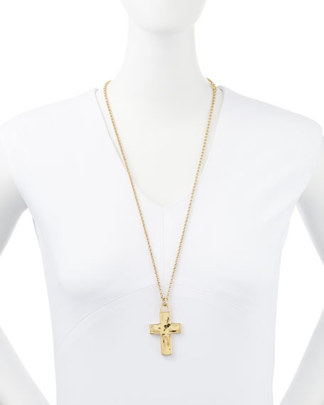 14k Gold-Plated Cross Pendant Necklace