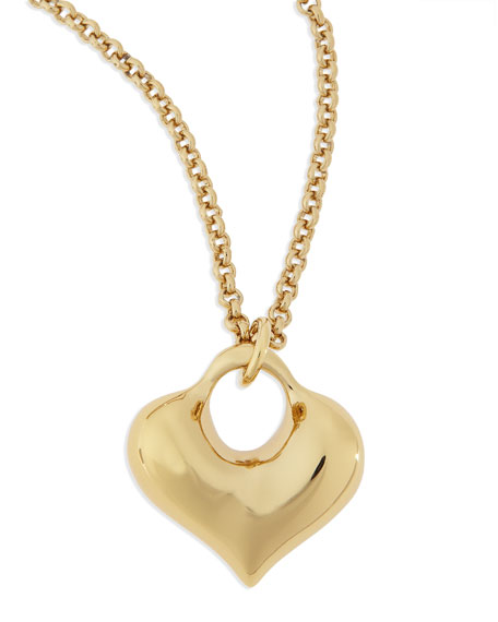 14k Gold-Plated Heart Pendant Necklace
