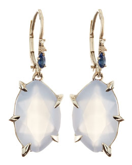 Alexis Bittar Fine Fancy Chalcedony Drop Earrings with Sapphires & Diamonds
