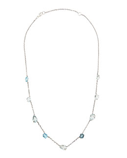 Alexis Bittar Fine Midnight Marquise Blue Stone Station Necklace, 18""