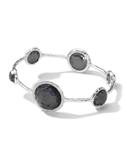 Ippolita Sterling Silver Stella Bangle, Hematite Doublet & Diamonds