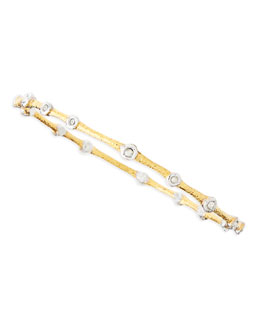 Alexis Bittar White Crystal-Studded Bangle