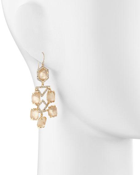 Fancy Citrine Chandelier Earrings