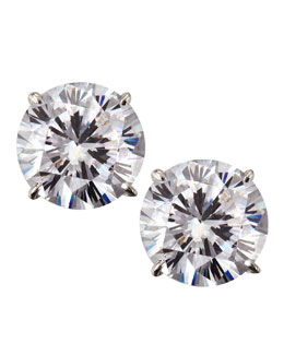 Fantasia 14k White Gold Cubic Zirconia Stud Earrings, 5.0 TCW