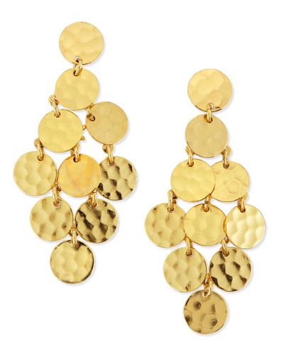 Stephanie Kantis 24k Gold-Plated Shimmer Cascade Earrings